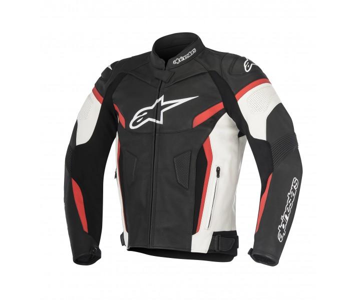 Chaqueta de Piel Alpinestars Gp Plus R V2 Negro Blanco Rojo  3100517-123 