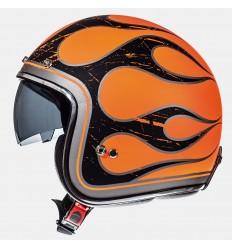 Casco Mt Le Mans Sv Flaming Naranja Perlado Fluor/Negro Brillo |10223830|