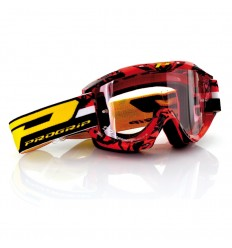 Gafas Pro-Grip Cross 'Top Line' Blanco Rojo Lente 3298 2016