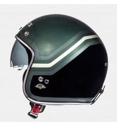 Casco Mt Le Mans Sv Trio Negro Mate/Verde Militar |10223850|