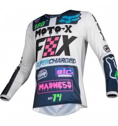 Camiseta Motocross Fox Yth 180 Czar Jersey Infantil Claro Gris |21746-097|