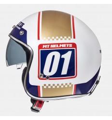 Casco Mt Le Mans Sv Numberplate Blanco Perlado/Oro Brillo |10223860|