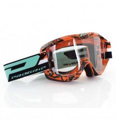 Gafas Pro-Grip Cross 'Top Line', Negro Naranja, Lente 3298 2016