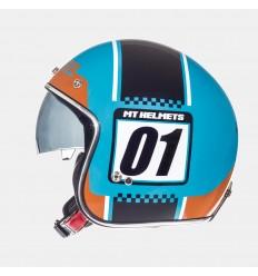 Casco Mt Le Mans Sv Numberplate Naranja Fluor/Azul Brillo |10223861|