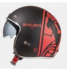 Casco Mt Le Mans Sv Divenire Negro Mate/Rojo |10223871|