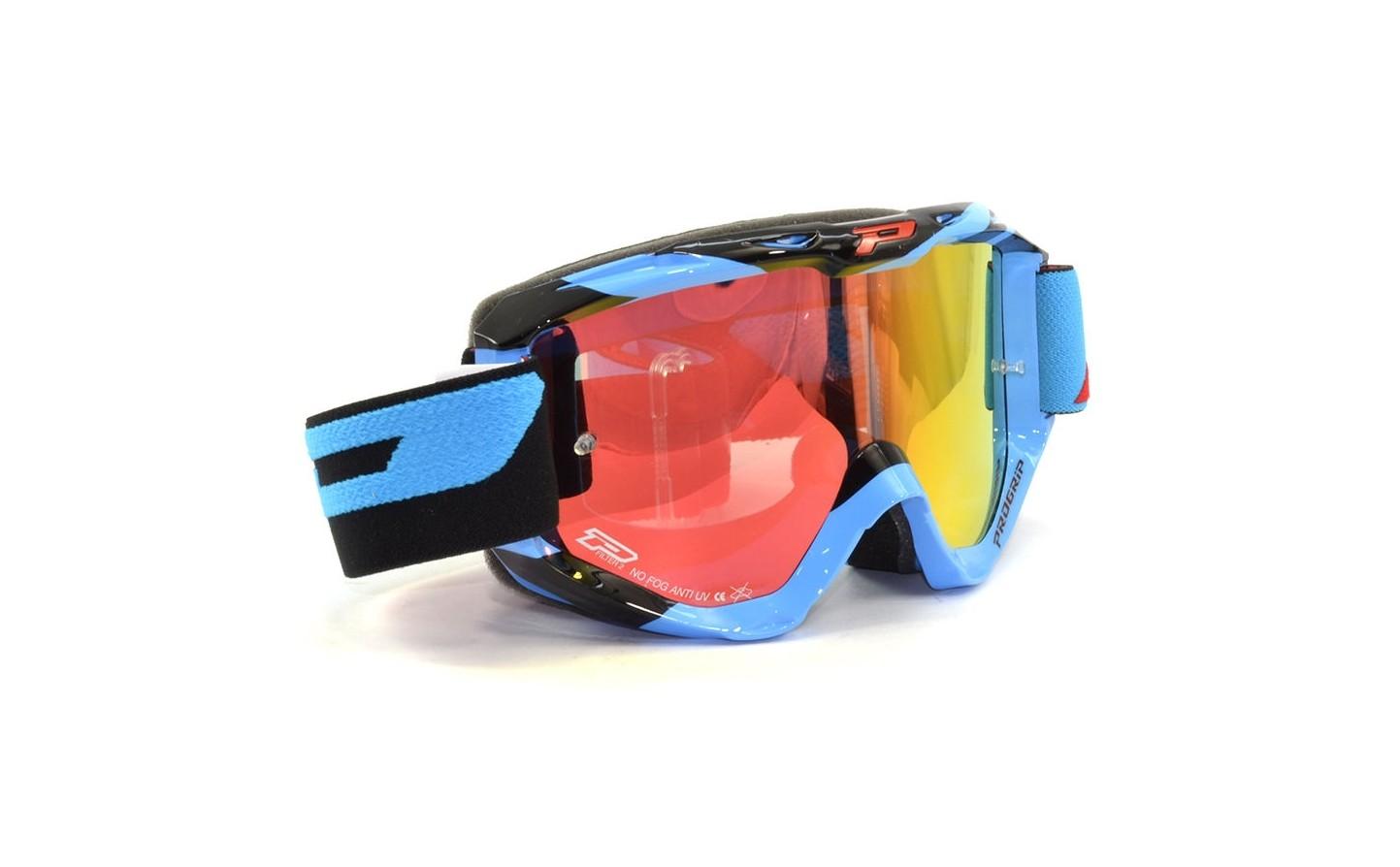 5eda34cd2b Gafas Pro-Grip Cross Ca3450 Fl Multilayer Azul, Lente Espejo 2016 ...