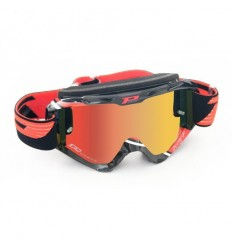 Gafas Pro-Grip Cross Ca3450 Multilayer Blanca/Roja Lente Espejo Roja 2016