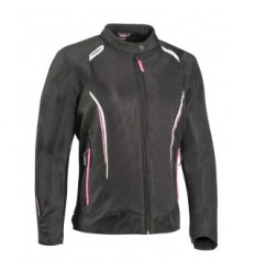 Chaqueta Textil Ixon Cool Air C Mujer Negro Blanco Pink  0757101008 