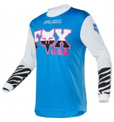 Camiseta Motocross Fox Retro Zebra Jersey [22949-189]