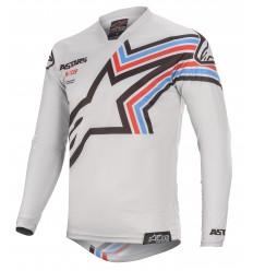 Camiseta Alpinestars Racer Braap Light Gray Negro |3761420-9210|