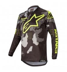 Camiseta Alpinestars Infantil Racer Tactical Negro Gray Camo Amarillo Fl |377122