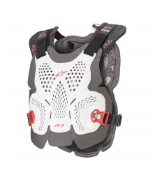 Peto Alpinestars A-1 Plus Chest Protector Blanco Anthracite Rojo |6700120-2043|