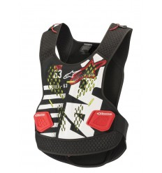 Peto Alpinestars Sequence Chest Protector Blanco rojo |6701819-123|
