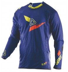 Camiseta LEATT GPX 5.5 UltraWeld Azul/Lima 2017 |LB5017910412|