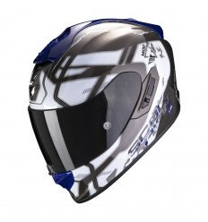Casco Scorpion Exo 1400 Air Spatium Blanco Azul  14-307-74 