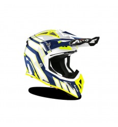 Casco Airoh Aviator Ace Art Azul Brillo |PAI33A13ACEA&1C|