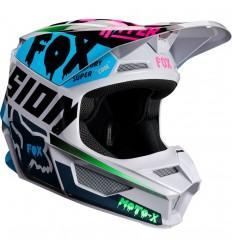Casco Motocross Fox Yth V1 Czar Helmet Infantil Claro Gris |21781-097|