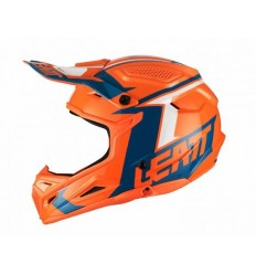 Casco Leatt Brace GPX 4.5 V20 Naranja Denim