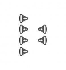 Set Enganches Cinchas Pod Para K300 / K4 / K700 / K750 / K8 Negro (4 un) |KP340-