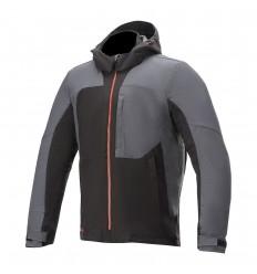 Chaqueta Alpinestars Stratos V2 Techshell Drystar Negro Asphalt Rojo |3209720-1123|