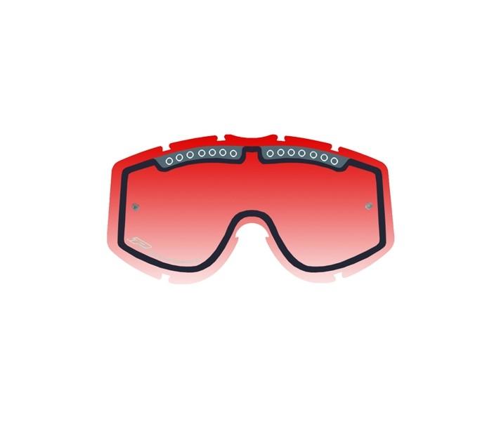 Recambio Cristal / Lente Doble Pro-Grip Máscara Rojo 2016