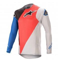 Camiseta Alpinestars Supertech Blaze Rojo Azul |3760421-3017|