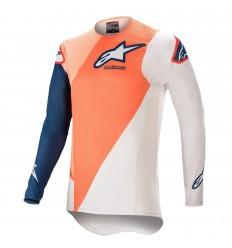 Camiseta Alpinestars Supertech Blaze Naranja Azul |3760421-477|