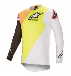 Camiseta Alpinestars Supertech Blaze Amarillo Blanco |3760421-52|