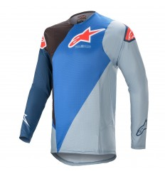 Camiseta Alpinestars Supertech Blaze Azul Negro |3760421-713|