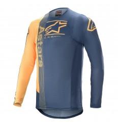 Camiseta Alpinestars Supertech Foster Azul Naranja |3760721-7140|