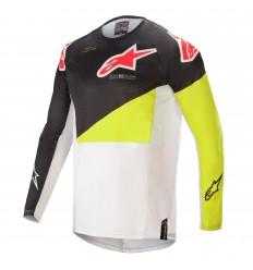 Camiseta Alpinestars Techstar Factory Negro Amarillo |3761021-1552|