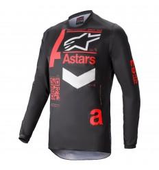 Camiseta Alpinestars Fluid Chaser Negro Rojo |3762421-1303|