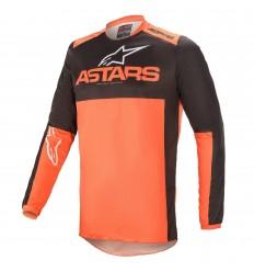 Camiseta Alpinestars Fluid Tripple Negro Naranja |3762521-14|