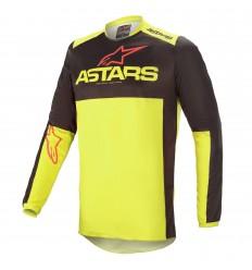 Camiseta Alpinestars Fluid Tripple Negro Amarillo |3762521-1533|