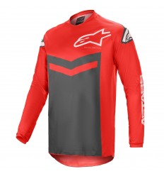 Camiseta Alpinestars Fluid Speed Rojo Antracita |3762621-3011|