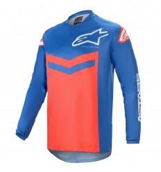 Camiseta Alpinestars Fluid Speed Azul Rojo |3762621-7103|