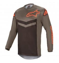 Camiseta Alpinestars Fluid Speed Gris Naranja |3762621-9344|