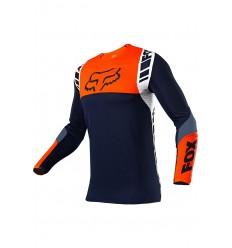 Camiseta Fox Flexair Mach One Navy Naranja |25748-007|