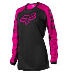 Camiseta Mujer Fox 180 Djet Negro Rosa |25853-285|