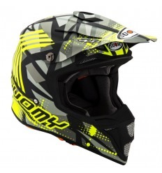 Casco Suomy Integral Mx Speed Sergeant Mate Gris Amarillo Fluor
