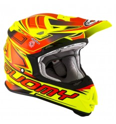 Casco Suomy Integral Mr Jump Start Amarillo Fluor Rojo