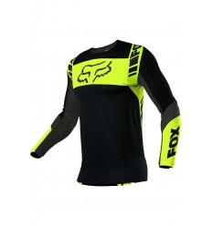 Camiseta Fox Flexair Mach One Negro Amarillo |25748-019|