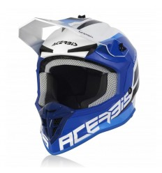 Casco Acerbis Lineal Blanco Azul  0024473.232 