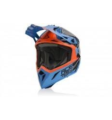Casco Acerbis Steel Carbon Azul Naranja  0023424.204 