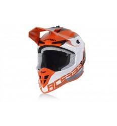 Casco Acerbis Linear Blanco Naranja  0024473.203 