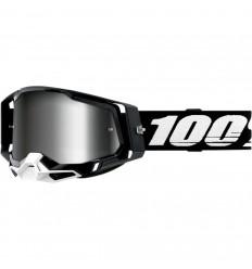 Máscara 100% Racecraft 2 Negro Silver  26012907 