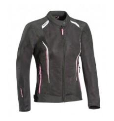 Chaqueta Textil Ixon Cool Air Mujer Negro Blanco Rosa  0757091003 
