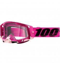 Máscara 100% Racecraft 2 Maho Rosa Transparente  26013035 
