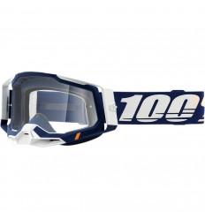 Máscara 100% Racecraft 2 Concordia Azul Transparente  26013034 