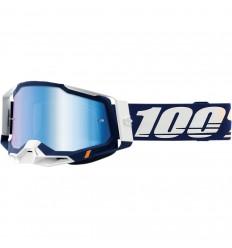 Máscara 100% Racecraft 2 Concordia Azul Cian  26013037 
